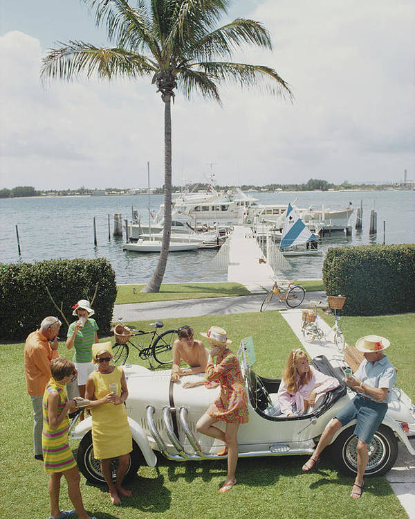 People Poster featuring the photograph Palm Beach Society by Slim Aarons