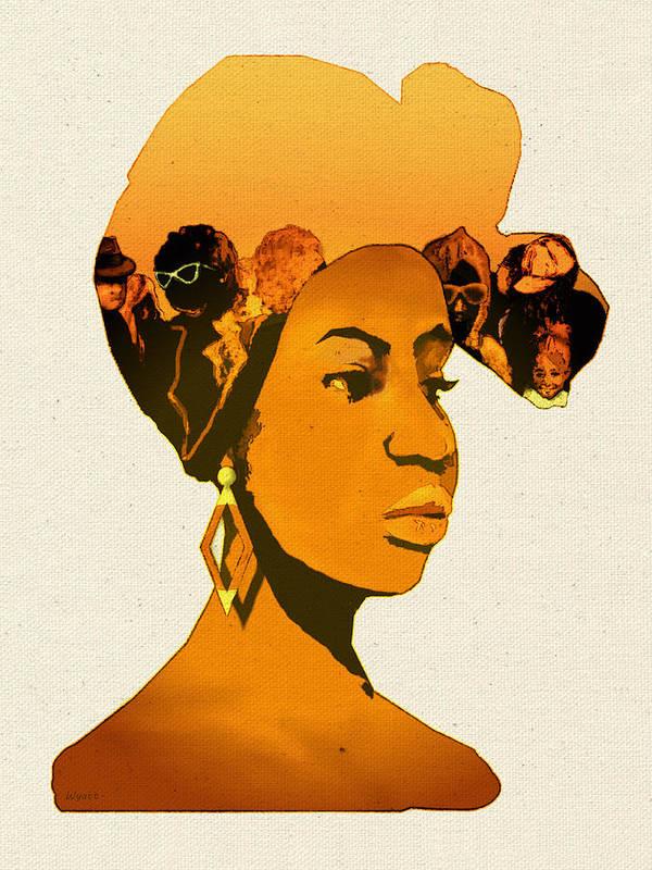 African American Poster featuring the digital art People In My Head by Regina Wyatt