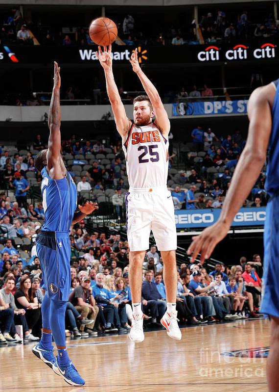 Sports Ball Poster featuring the photograph Phoenix Suns V Dallas Mavericks by Danny Bollinger