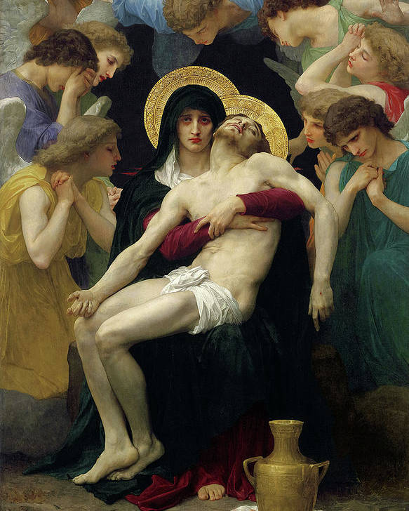 Bouguereau Pieta Poster featuring the painting Pieta, 1876 by William-Adolphe Bouguereau