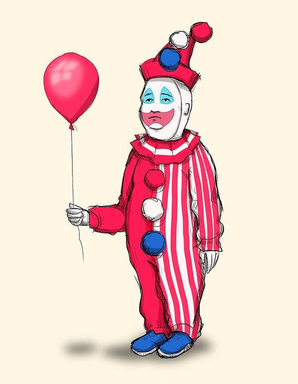 John Wayne Gacy Poster featuring the drawing Pogo Hill by Ludwig Van Bacon