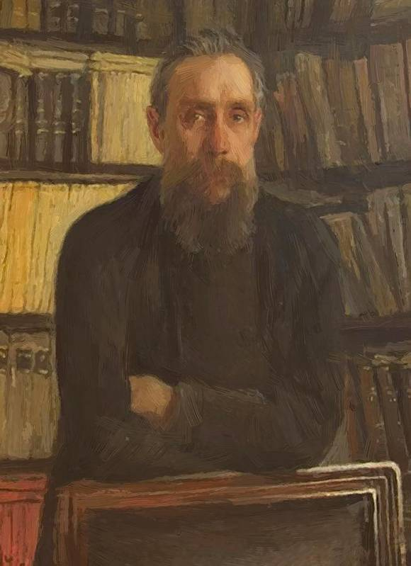 Portrait Poster featuring the painting Portrait Of Kostichev by Ge Nikolai