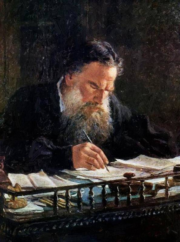 Portrait Poster featuring the painting Portrait Of Leo Tolstoy by Ge Nikolai