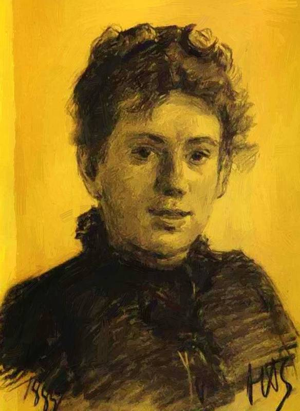 Portrait Poster featuring the painting Portrait Of Tatyana Tolstaya Leo Tolstoy Daughter by Ge Nikolai