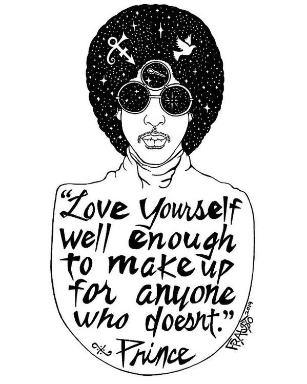 Pen And Ink Illustration Poster featuring the drawing Prince Drawing by Rick Frausto