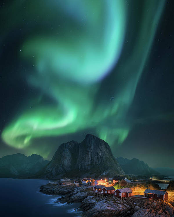 Lofoten Poster featuring the photograph Rise Up by Carlos F. Turienzo