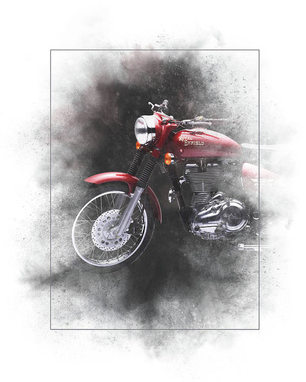 Royal Enfield Poster featuring the mixed media Royal Enfield Bullet Electra Efi Painting by Smart Aviation