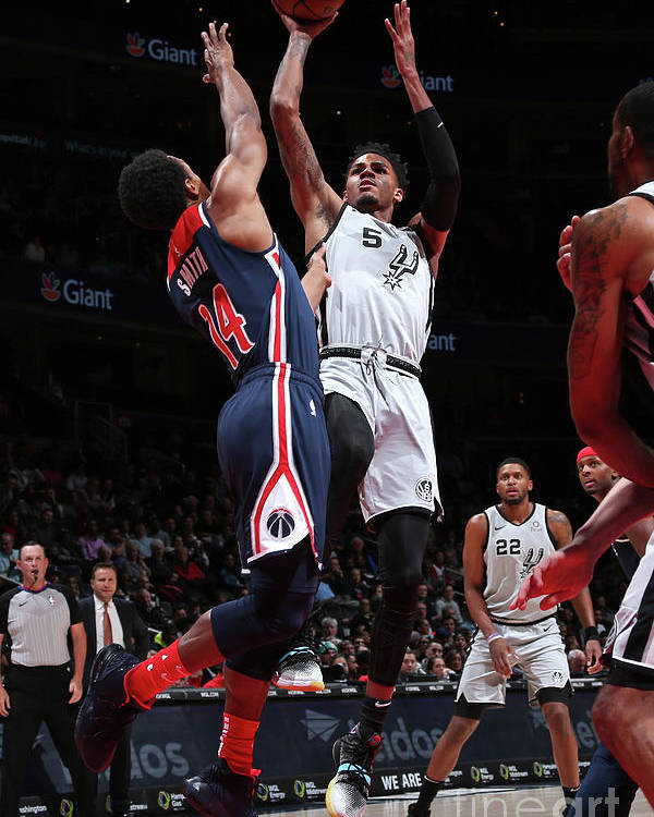 Nba Pro Basketball Poster featuring the photograph San Antonio Spurs V Washington Wizards by Ned Dishman