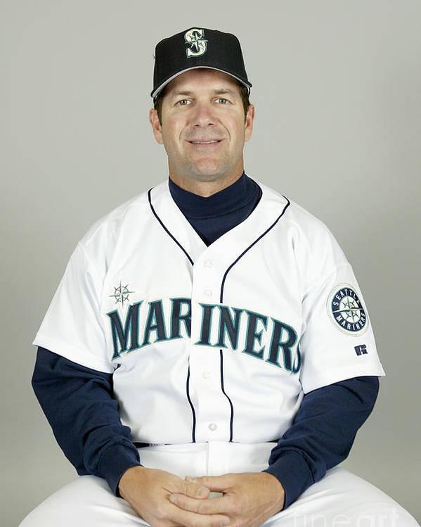 American League Baseball Poster featuring the photograph Seattle Mariners Headshots by Major League Baseball Photos
