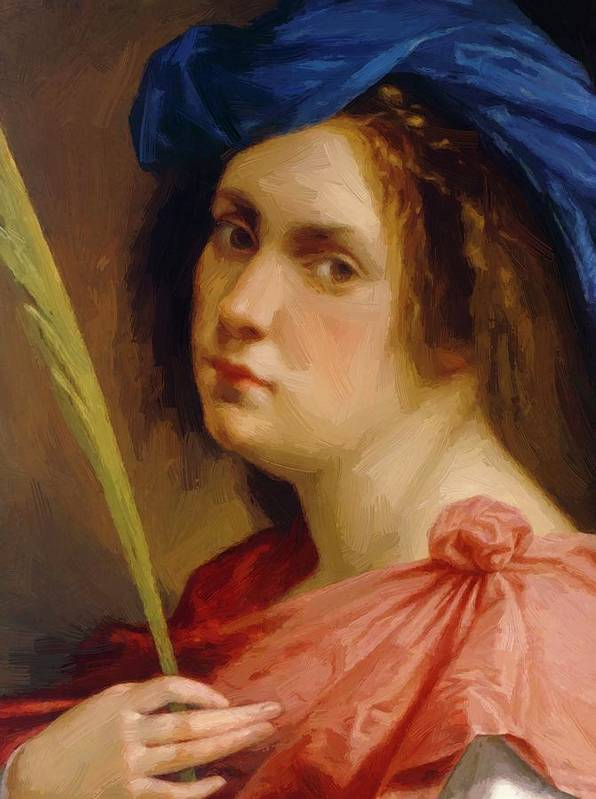 Self Poster featuring the painting Self Portrait As A Female Martyr 1615 by Gentileschi Artemisia