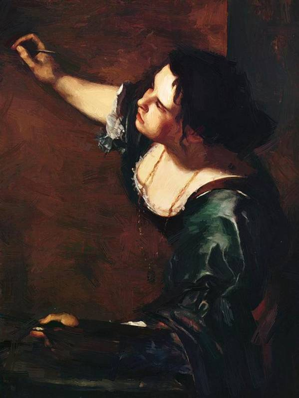 Self Poster featuring the painting Self Portrait As The Allegory Of Painting 1639 by Gentileschi Artemisia