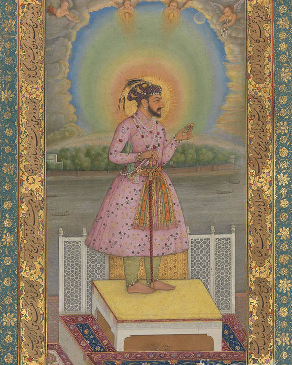 Indian Poster featuring the painting Shah Jahan On A Terrace by Chitarman