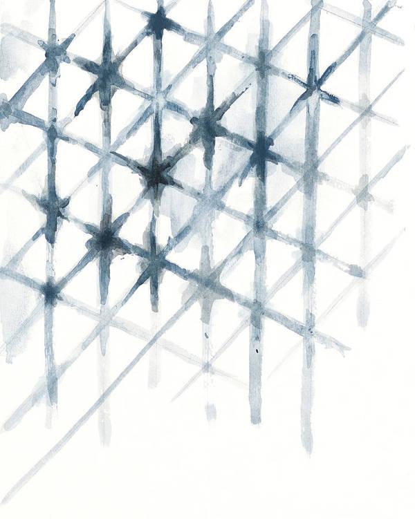 Shibori Poster featuring the mixed media Shibori by Patricia Pinto