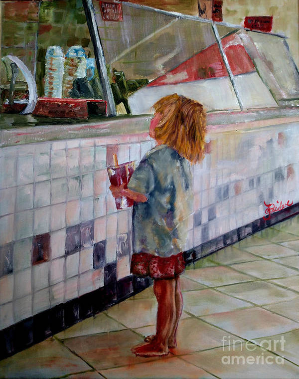 Soda Poster featuring the painting Soda Girl by CJ Rider