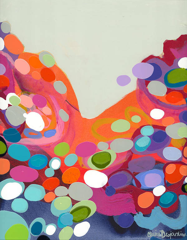 Abstract Poster featuring the painting Spoonful Of Joy by Claire Desjardins