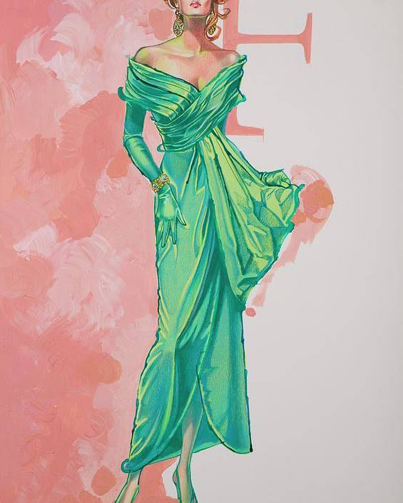 Fashion Illustration Poster featuring the painting Spring Fling by Barbara Tyler Ahlfield