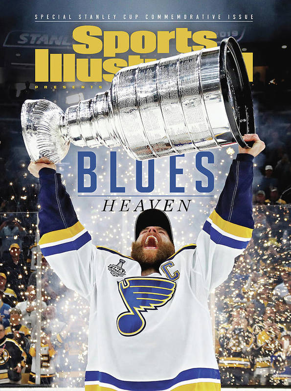 Playoffs Poster featuring the photograph St. Louis Blues, 2019 Nhl Stanley Cup Champions Sports Illustrated Cover by Sports Illustrated