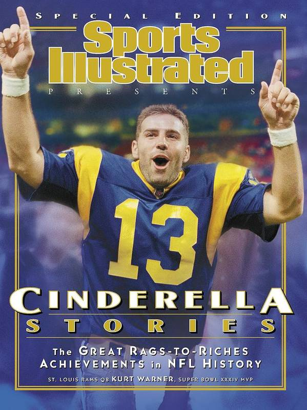Los Angeles Rams Poster featuring the photograph St. Louis Rams Qb Kurt Warner... Sports Illustrated Cover by Sports Illustrated