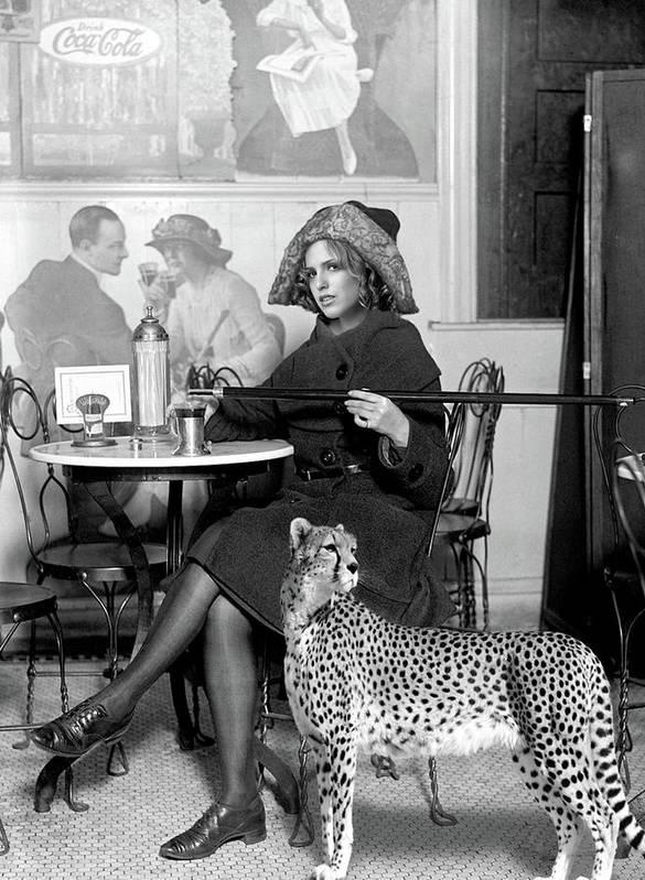 Strike A Pose, Vintage Cafe Scene, Coca Cola, Circa 1926, Vogue Poster