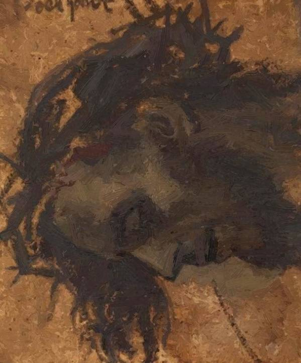 Study Poster featuring the painting Study For The Head Of Christ In A Crucifixion by Gebhardt Eduard von