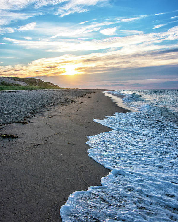 Cape Cod Sunset Poster featuring the photograph Sunset At Cape Cod National Seashore - Massachusetts by Brendan Reals