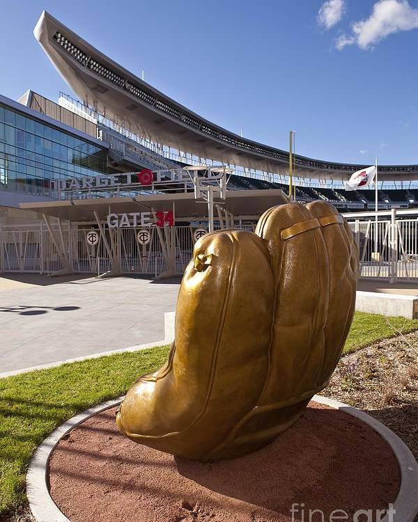 American League Baseball Poster featuring the photograph Target Field Previews by Wayne Kryduba