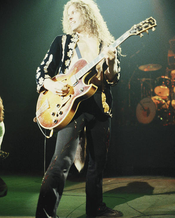 Art print POSTER CANVAS Ted Nugent Playing the Guitar