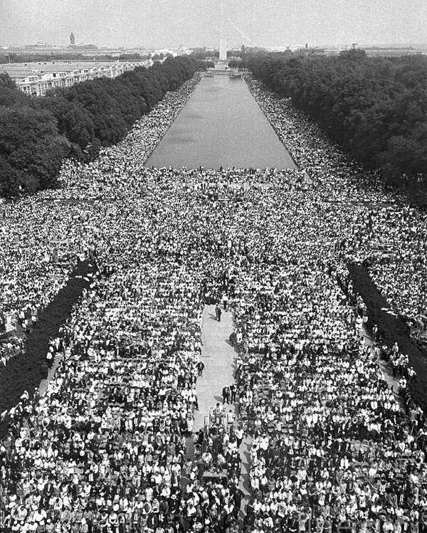 Crowd Of People Poster featuring the photograph The March On Washington At The Lincoln by Bettmann