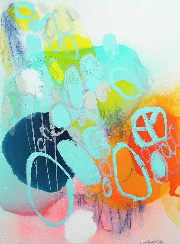 Abstract Poster featuring the painting The Right Thing by Claire Desjardins