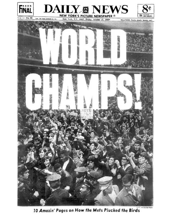 American League Baseball Poster featuring the photograph Ticker Tape Cascading On Lower Broadway by New York Daily News Archive