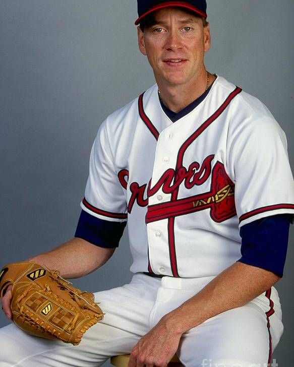 Media Day Poster featuring the photograph Tom Glavine 47 by Andy Lyons