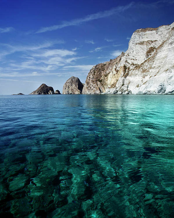 Scenics Poster featuring the photograph Typical Mediterranean Sea In Italy by Piola666