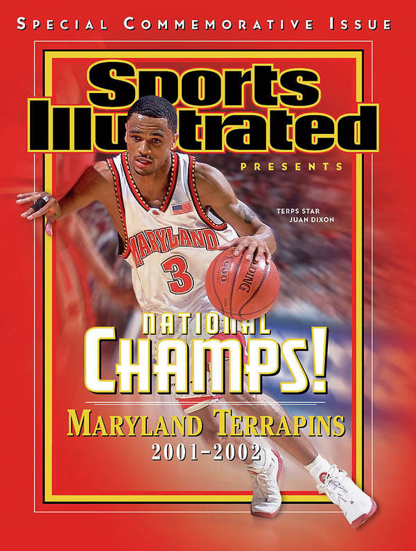 Atlantic Coast Conference Poster featuring the photograph University Of Maryland Juan Dixon, 2002 Ncaa National Sports Illustrated Cover by Sports Illustrated