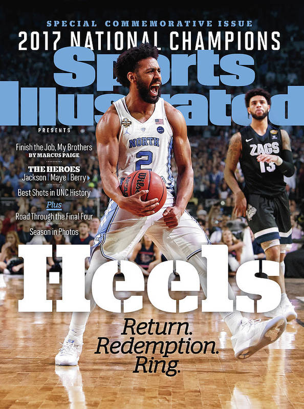 Basketball Poster featuring the photograph University Of North Carolina, 2017 Ncaa National Champions Sports Illustrated Cover by Sports Illustrated