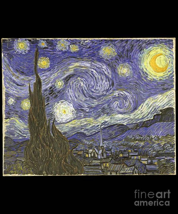 Cool Poster featuring the digital art Van Goh Starry Night by Flippin Sweet Gear