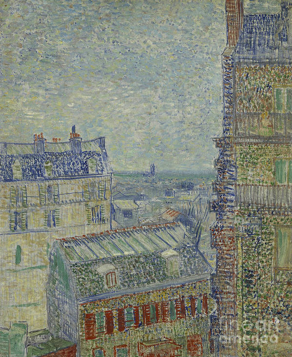 Vincent Poster featuring the painting View Of Paris From Theos Apartment In The Rue Lepic, 1887 by Vincent Van Gogh