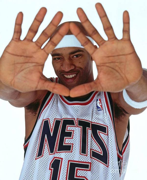 Nba Pro Basketball Poster featuring the photograph Vince Carter Studio Portrait by Nathaniel S. Butler
