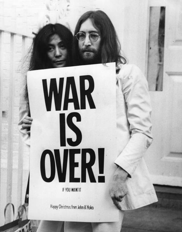 Rock Music Poster featuring the photograph War Is Over by Frank Barratt