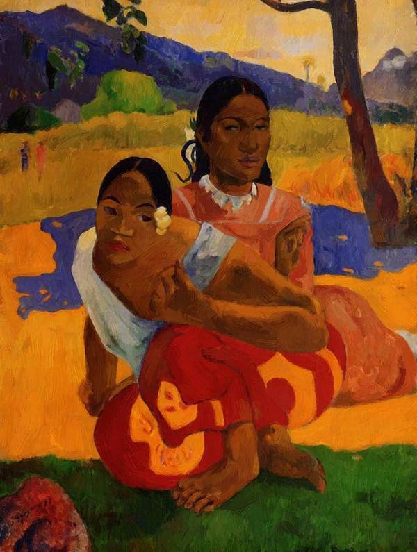 When Poster featuring the painting When Are You Getting Married 1892 by Gauguin Paul