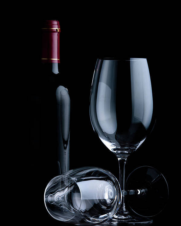 Shadow Poster featuring the photograph Wine Glasses by Georghanf