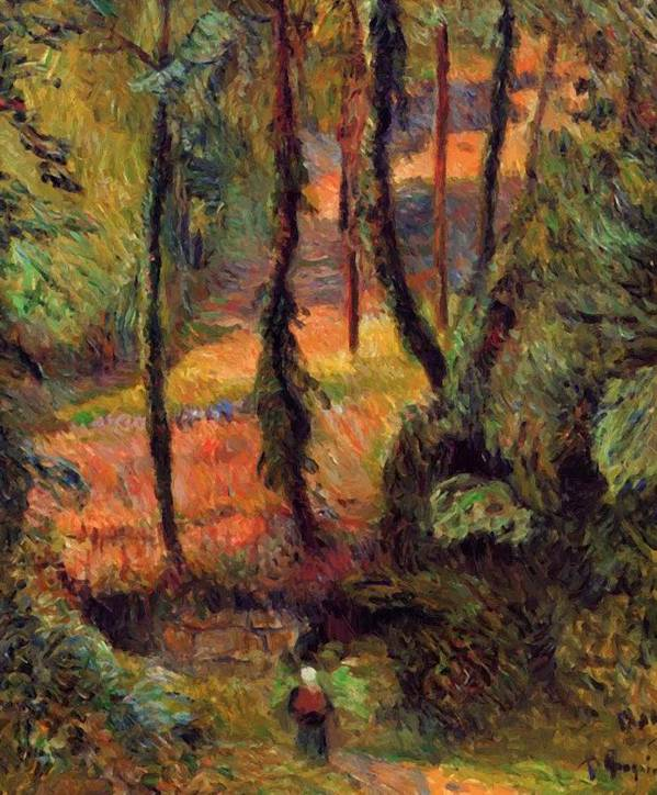 Wooded Poster featuring the painting Wooded Path 1884 by Gauguin Paul