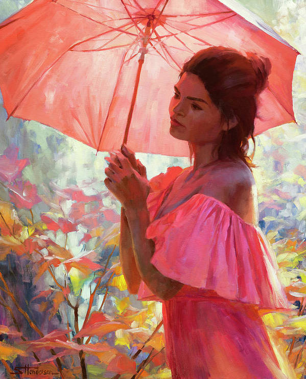 Woman Poster featuring the painting Woodland Dreams by Steve Henderson
