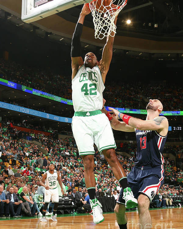 Playoffs Poster featuring the photograph Al Horford by Ned Dishman