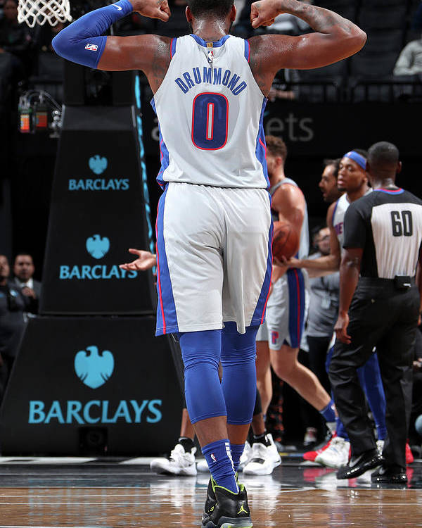 Nba Pro Basketball Poster featuring the photograph Andre Drummond by Nathaniel S. Butler