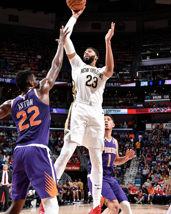 Smoothie King Center Poster featuring the photograph Anthony Davis by Bill Baptist