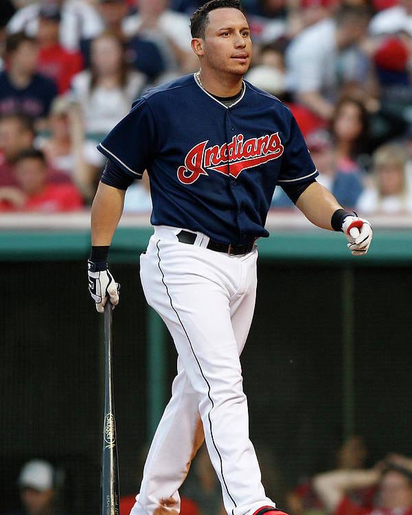 American League Baseball Poster featuring the photograph Asdrubal Cabrera by David Maxwell