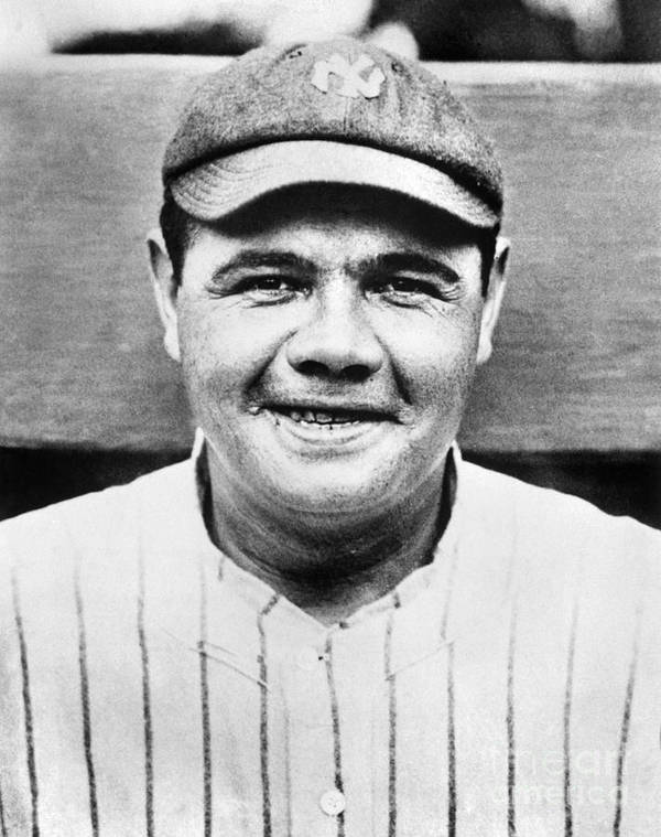 People Poster featuring the photograph Babe Ruth by National Baseball Hall Of Fame Library