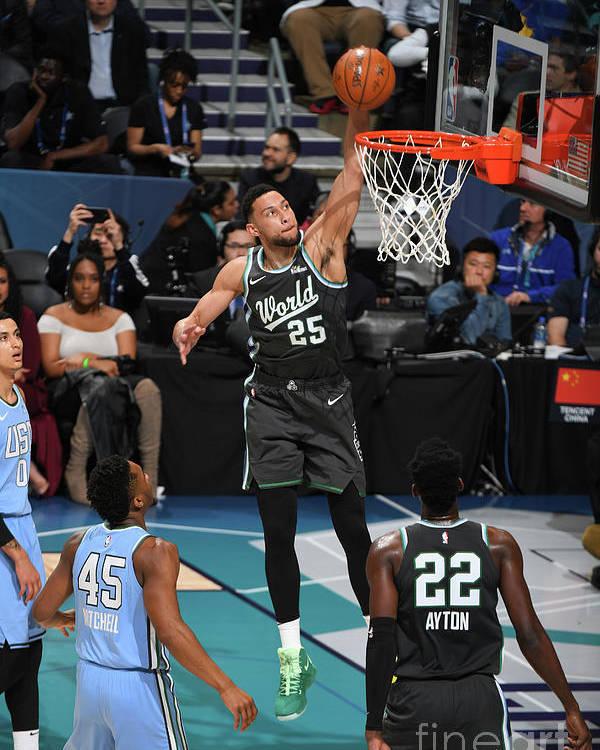 Nba Pro Basketball Poster featuring the photograph Ben Simmons by Garrett Ellwood