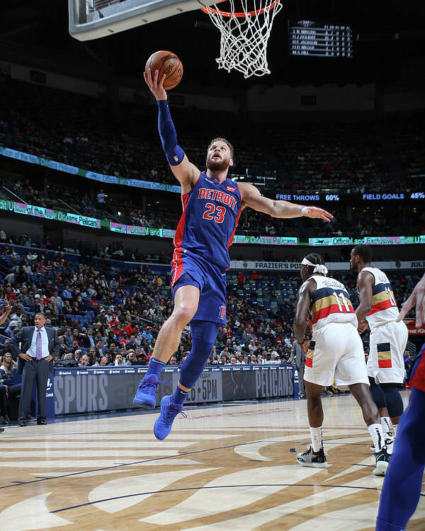 Smoothie King Center Poster featuring the photograph Blake Griffin by Layne Murdoch Jr.