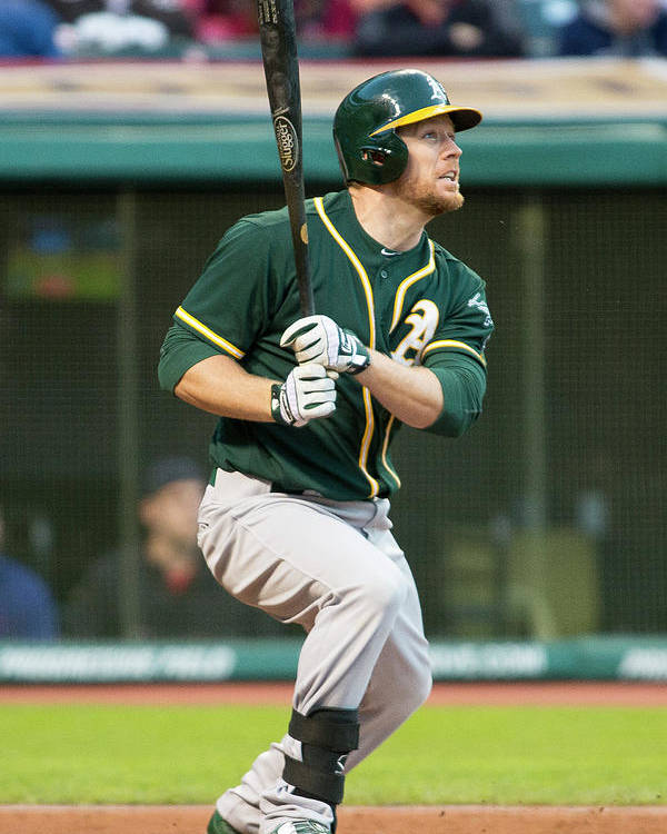 American League Baseball Poster featuring the photograph Brandon Moss by Jason Miller